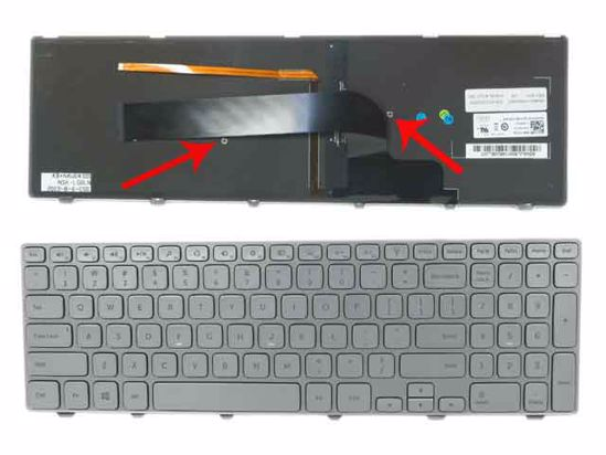 LAPTOP KEYBOARD FOR DELL INSPIRON 7737 BACKLIT WITH FRAME US VERSION SILVER