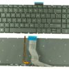 LAPTOP KEYBOARD FOR HP 15-AB 15-BK WITHOUT FRAME IN GREEN LETTERS WITH BACKLIT BLACK US VERSION.
